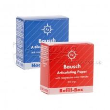 BK 1001, BK 1002 - артикуляційний папір 200 мкм синій, 300 смужок в картонній упаковці, замінний для BK 01